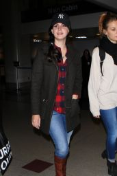 Lana Del Rey at LAX Airport, 12/13/2015