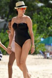 Lauren Silverman in a Swimsuit - Beach Candids Barbados, December 2015