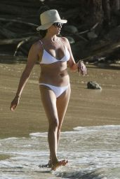 Lauren Silverman in White Bikini in Barbados 12/29/2015