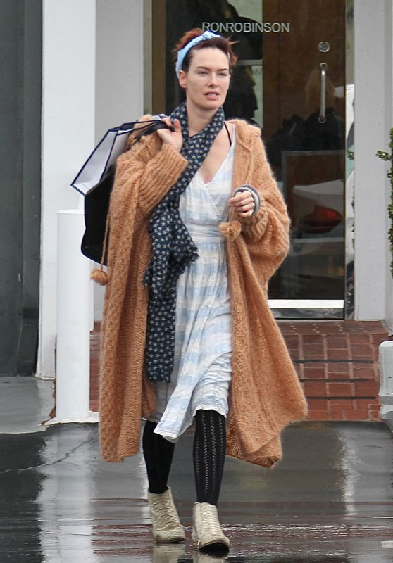 Lena Headey - Christmas Shopping With Her Mom Susan in West Hollywood 12/22/2015
