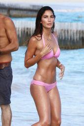 Lily Aldridge in a Bikini - Photoshot for Victoria