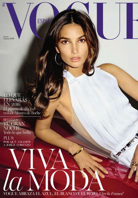 Lily Aldridge - Vogue Magazine Spain January 2016 Issue