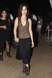 Lily Collins - Soho Beach House Tent Closing Party in Miami, December 2015