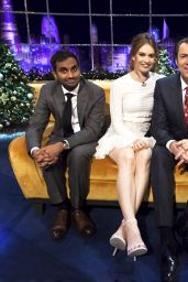 Lily James Tapes an Appearance on  Jonathan Ross Show 12/21/2015