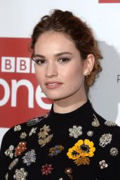 Lily James – 'War & Peace' TV Series Photocall in London, December 2015