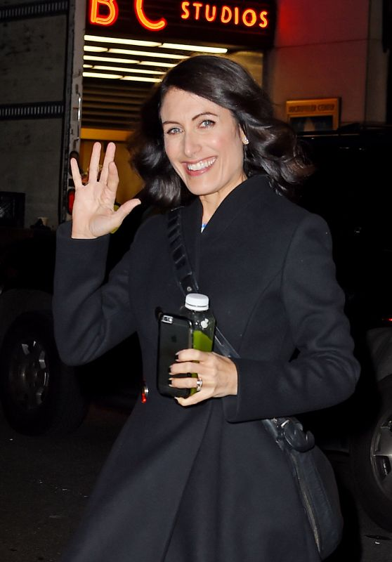 Lisa Edelstein - Leaving NBC Studios in New York, 12/3/2015