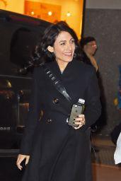 Lisa Edelstein - Leaving NBC Studios in New York, 12/3/2015