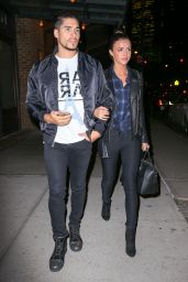 Lucy Mecklenburgh and Louis Smith - Leaving Their Hotel in New York City 12/21/2015