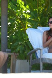 Lucy Watson & Stephanie Pratt in Bikinis - Vacation in the Maldives, December 2015