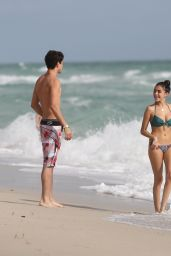 Madison Beer Bikini Candids - Beach in Miami, Florida 12/27/2015
