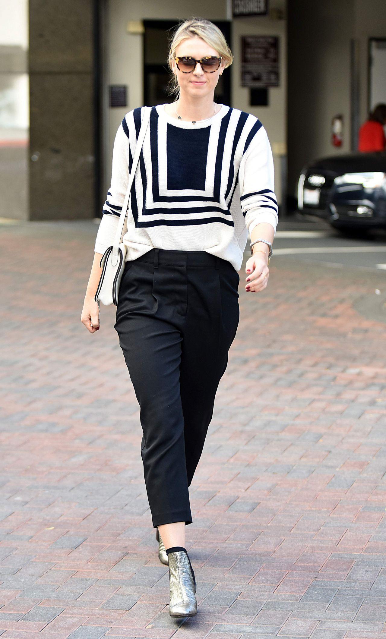 Maria Sharapova Fashion And Style Shopping In Beverly