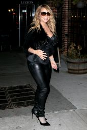Mariah Carey Night Out Style - at Luzzo