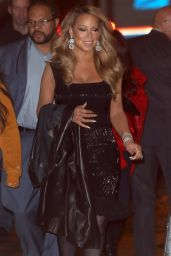 Mariah Carey Night Out Style - NYC 12/17/2015