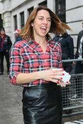 Mel C - Leaving BBC Radio Two Studios After Performing Christmas Songs on Chris Evans Breakfast Show in London 12/16/2015