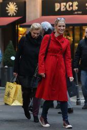 Michelle Hunziker Shopping in Milan, December 2015
