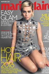 Miley Cyrus - Marie Claire Magazine UK January 2016 Issue