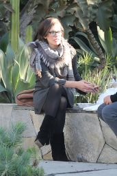 Milla Jovovich - Enjoyed a Sunday at the Melrose Place Farmers Market in West Hollywood, December 2015