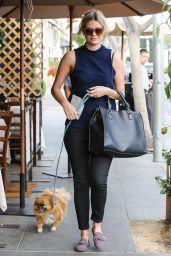 Mischa Barton at Il Pastaio Restaurant in Beverly Hills, December 2015