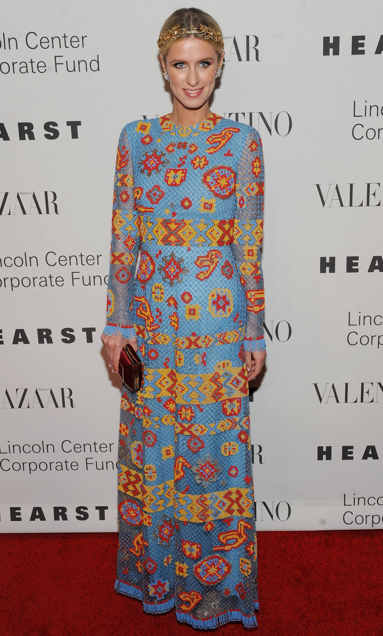 nicky hilton an evening honoring valentino gala in nyc december 2015. Black Bedroom Furniture Sets. Home Design Ideas