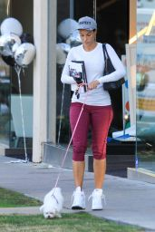 Nicole Murphy in Leggings - Out in West Hollywood, December 2015