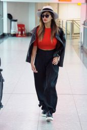 Nicole Scherzinger Airport Style - Heathrow in London, 12/15/2015