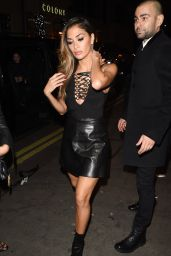 Nicole Scherzinger Night Out Style - Leaving Drama Nightclub in London 12/18/2015
