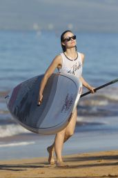 Olivia Wilde Goes Paddleboarding in a Bikini - Hawaii, December 2015