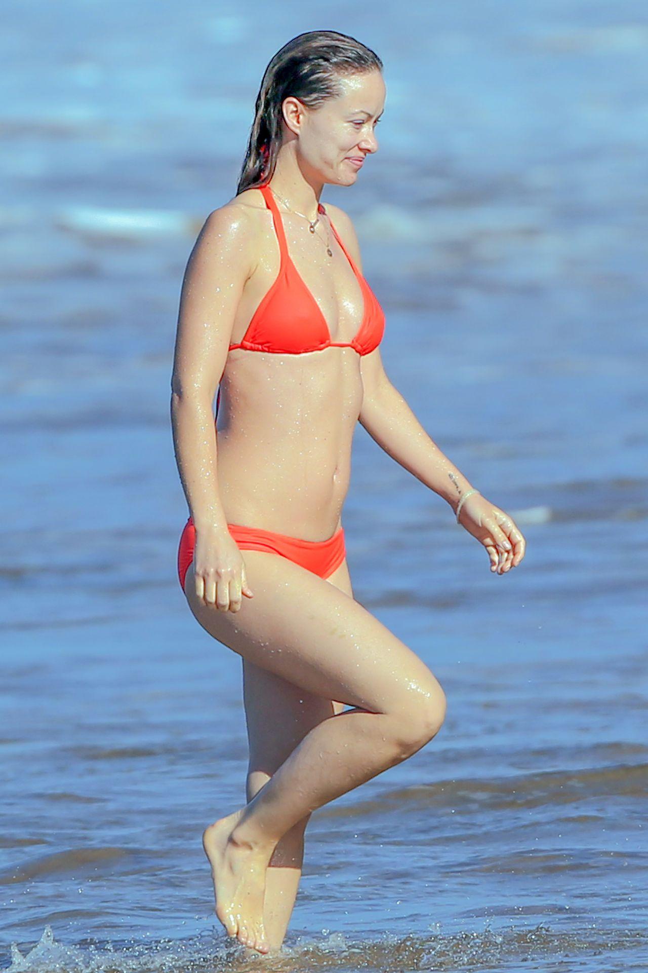 Olivia Wilde In A Bikini Beach In Hawaii 12 12 2015