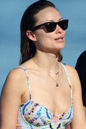 Olivia Wilde in a Bikini on a Beach in Hawaii, 12/13/2015