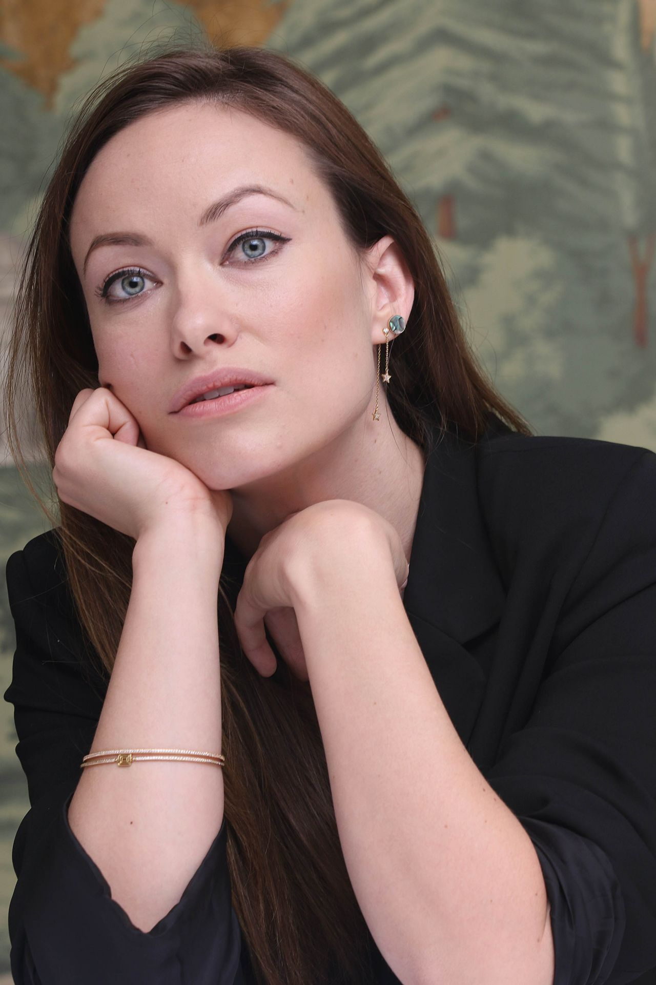 Olivia Wilde Vinyl Press Conference At London Hotel In