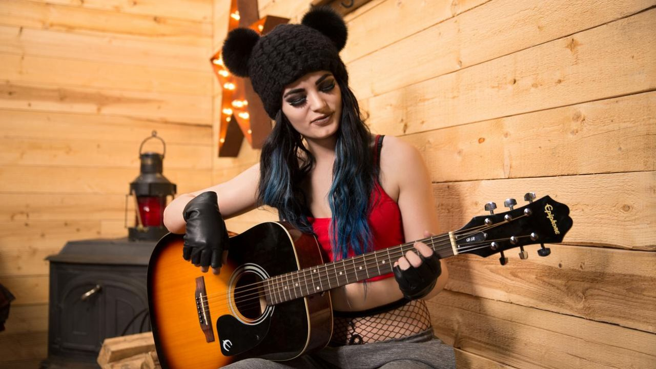 Paige – WWE Cabin Fever Photoshoot