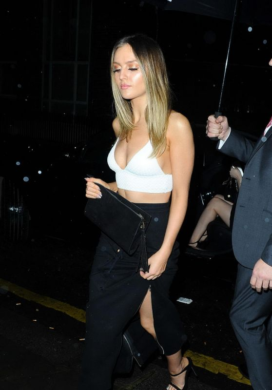 Perrie Edwards Night Out Style -  Sexy Fish Restaurant in London 12/21/2015
