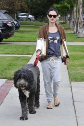 Rachel Bilson Street Style - Walking Her Dog in LA, November 2015