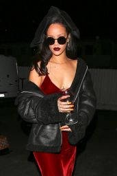 Rihanna - Leaving Giorgio Baldi Restaurant in Santa Monica, December 2015