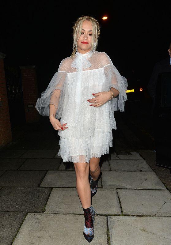 Rita Ora Night Out Style - London 12/12/2015