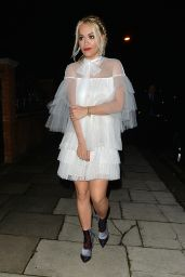 Rita Ora Night Out Style - London 12/12/2015