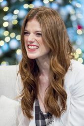 Rose Leslie at ITV Studios in London, December 2015