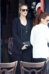 Rosie Huntington-Whiteley at Le Conversation Cafe in West Hollywood, December 2015