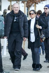 Salma Hayek - Out in Switzerland, December 2015