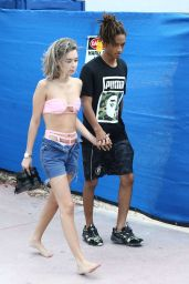 Sarah Snyder and Jaden Smith - On the Beach in Miami 12/19/2015