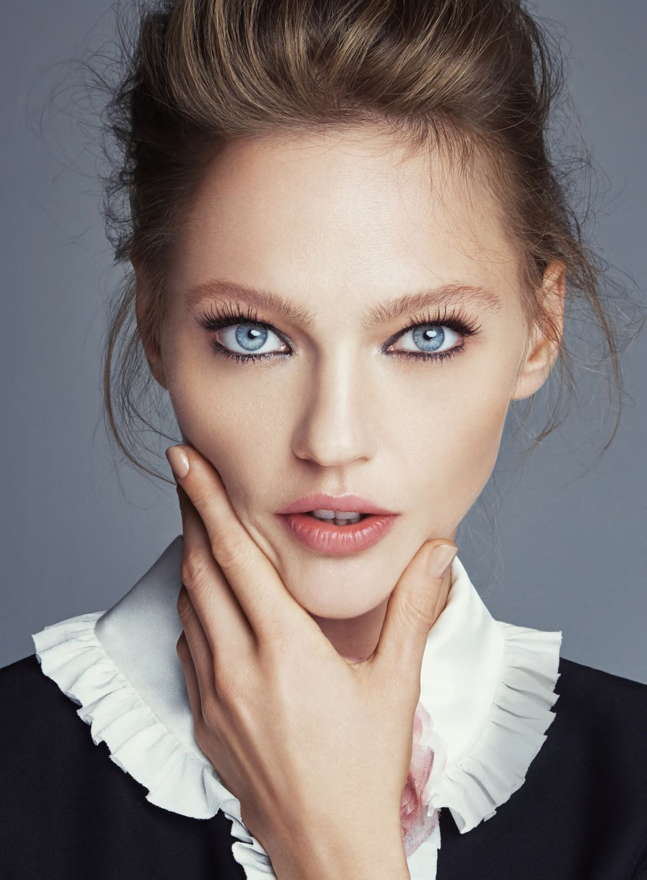 Sasha Pivovarova Photoshoot For Allure Magazine January 2016
