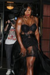Serena Williams in Black Gown - Bowery Hotel in New York City, 12/15/2015