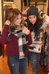 Shay Mitchell and Ashley Benson at American Eagle Outfitters in Hollywood, December 2015