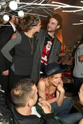 Sienna Miller and Poppy Delevingne - LOVE Magazine Christmas Party in London, December 2015