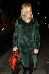Sienna Miller Arriving for LOVE Magazine Christmas Party in London, 12/18/2015