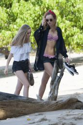 Suki and Immy Waterhouse Hot in Bikinis on a Beach in Barbados 12/28/2015
