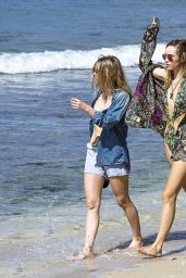 Suki & Immy Waterhouse Bikini Candids - Beach in Barbados 12/27/2015