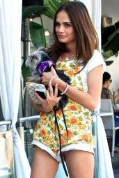 Xenia Deli Walking Her Dog in Los Angeles 12/14/2015