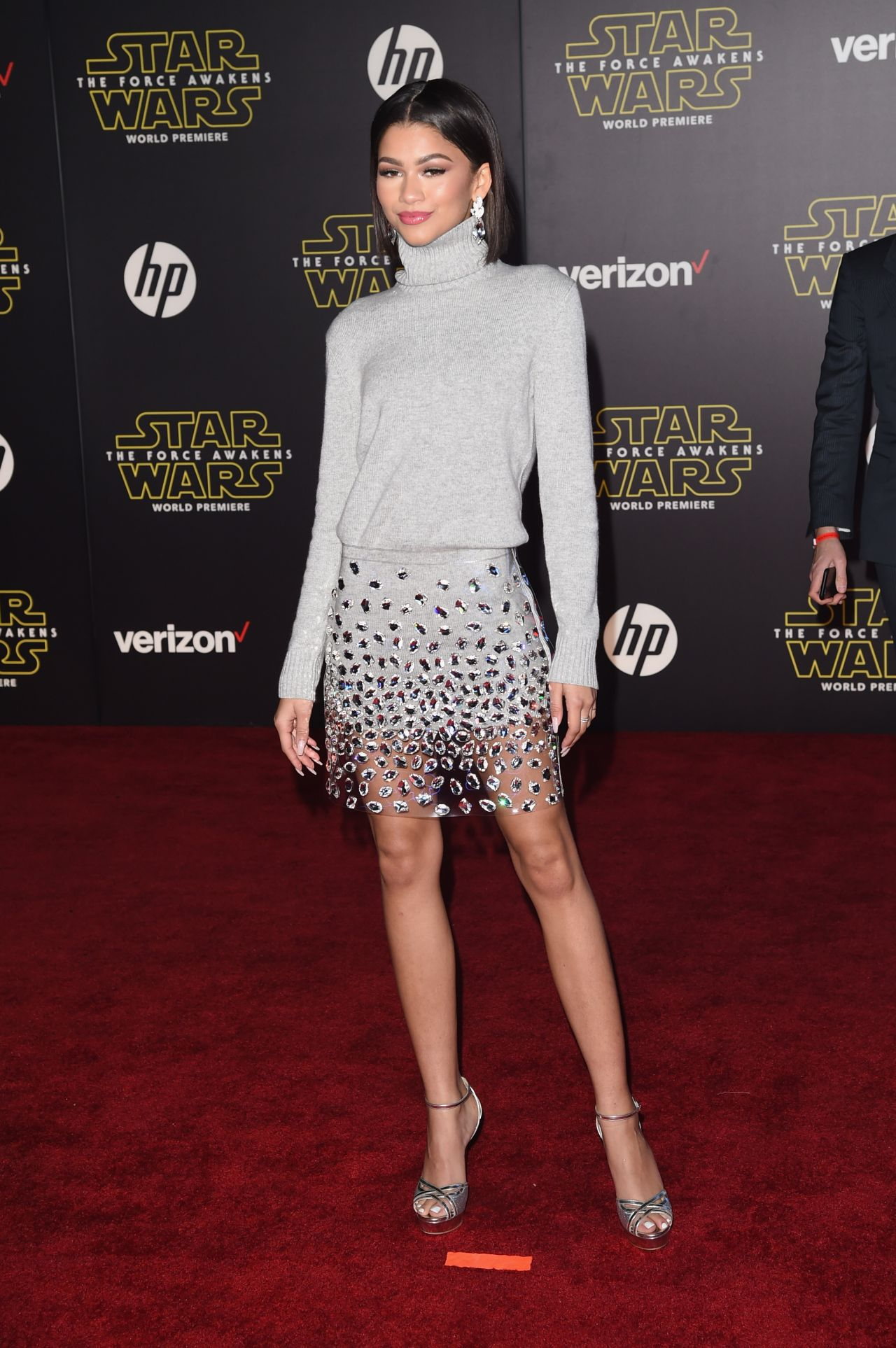 Zendaya Star Wars The Force Awakens Premiere In Hollywood