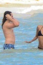 Zoe Saldana in a Sexy Bikini - Vacation in Mexico, December 2015